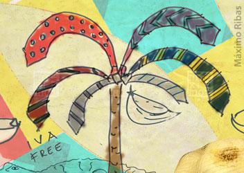 """Ilustración: """"El ajo y los paraisos fiscales"""""""