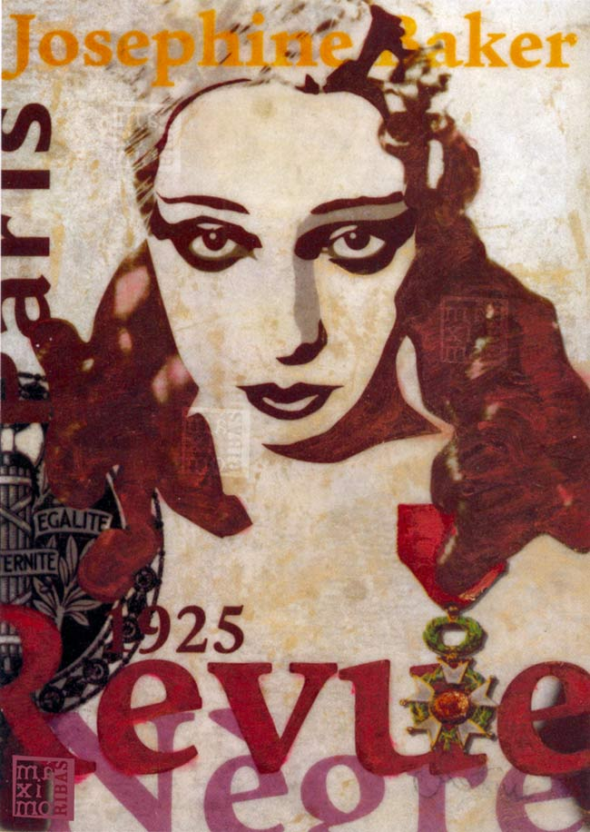 Ilustración sobre Josephine Baker realizada por Máximo Ribas sobre Josephine Baker.