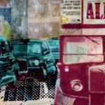 Ilustración sobre Londres y Michael Caine realizada por Máximo Ribas