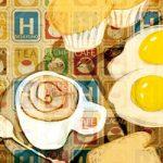 Ilustración sobre los desayunos en los hoteles realizada por Máximo Ribas
