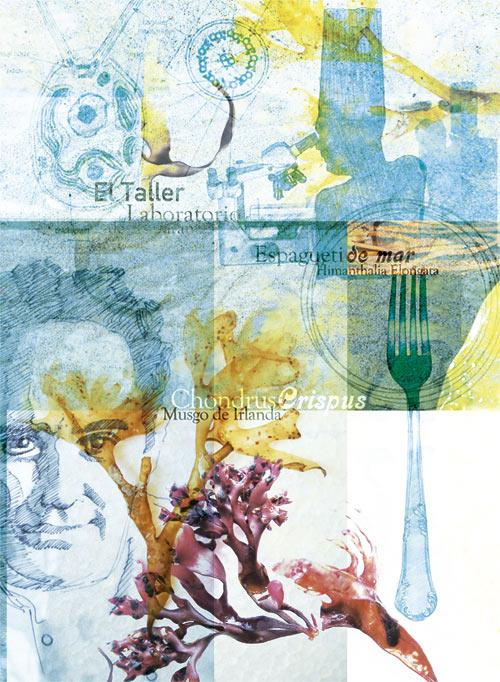 Ilustración sobre Ferran Adria realizada por Máximo Ribas en la revista de gastronomía Sobremesa