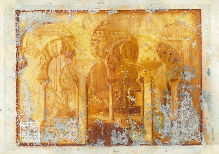Ilustración sobre la Mezquita de Córdoba realizada por Máximo Ribas para la revista Sobremesa