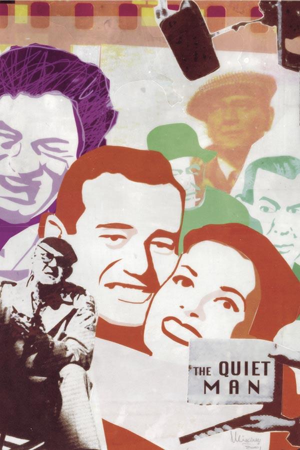 ilustración de Máximo Ribas sobre la película del director John Ford titulada el hombre tranquilo
