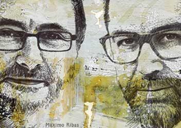 Ilustración de Aduriz y Dacosta por Máximo Ribas