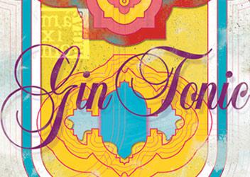 ilustración dibujo de botella de gin tonic