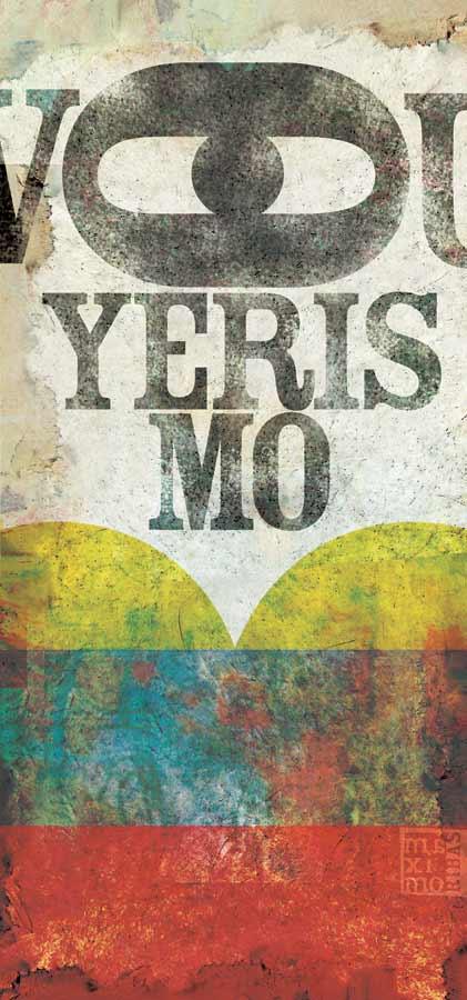 Ilustración sobre el voyeurismo con los colores de Venezuela