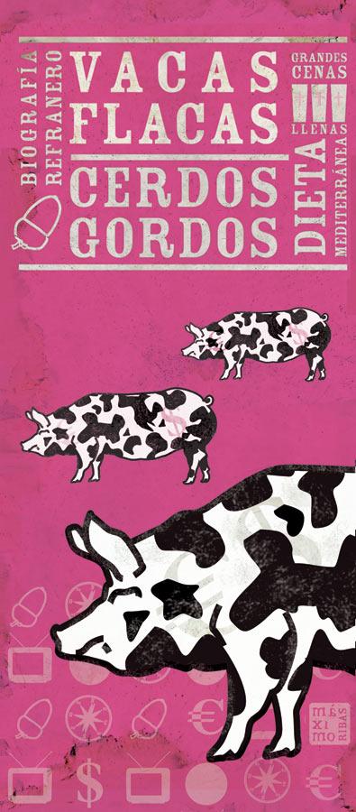 Ilustración sobre los cerdos vaca, que ni son vacas, ni son flacas
