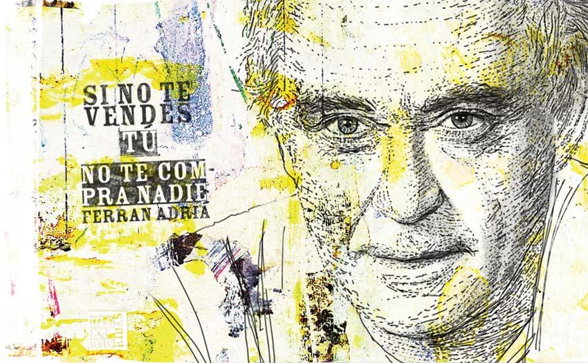 Ilustración sobre Ferran Adrià con plumilla