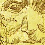 Ilustración sobre Julio César y el Risotto