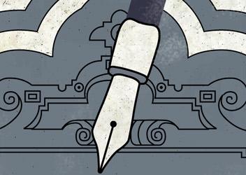 Ilustración del anciano gastrónomo