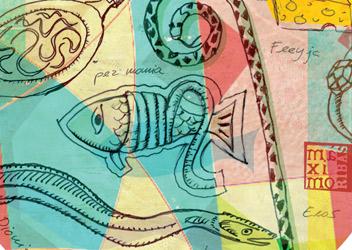 Ilustración sobre la gula y la angula
