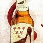 ilustración gastronómica sobre la cerveza rubia