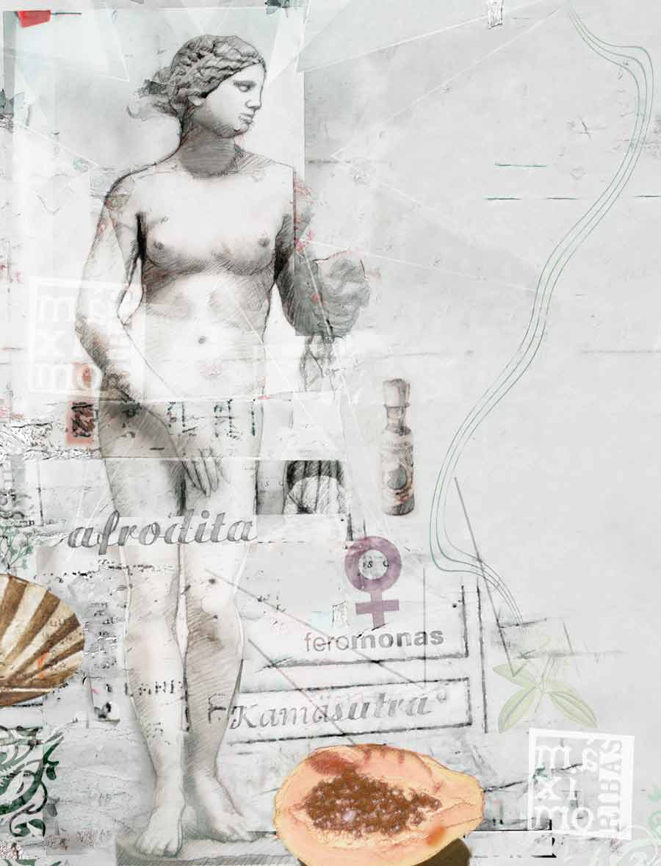 ilustración clásica de Afrodita ilustrada por Máximo Ribas